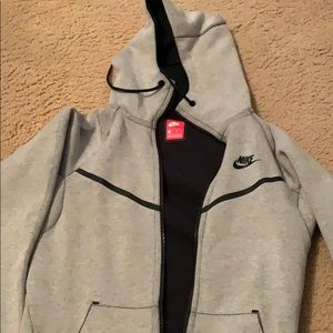 Nike gray double zip hoodie